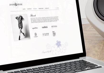 Janssi & Minssi websivut - brändit