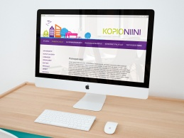 Kopio Niini ehdotus yritysilmeeksi. Websivun ulkoasu.